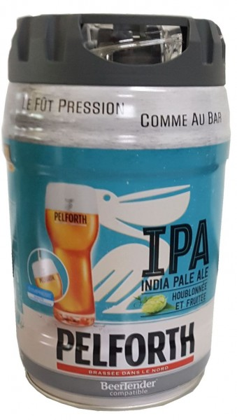 Pelforth IPA India Pale Ale Lúpulo y frutas Barril de fiesta de 5 litros 5.9% vol. desechable