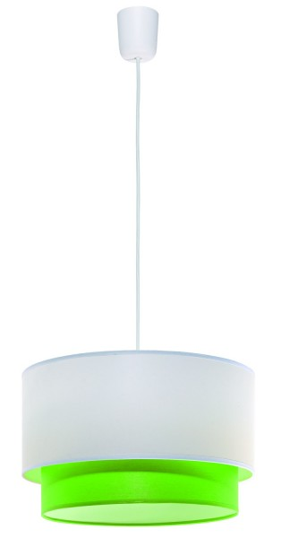 LAMPEX lámpara de techo de Lida PVC verde / tela 80 x 35 cm
