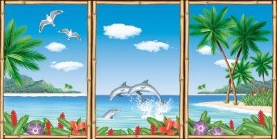 Pionero de la escena del Dekokulisse...Hawaii...Vista de la ventana