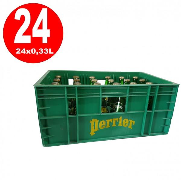 24 x botella de vidrio Perrier agua mineral 0.33L en caja original