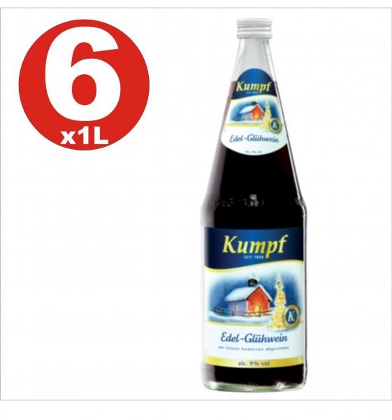 6 x Kumpf Edel Gluehwein Vino caliente 9% vol. alc. bebida alcohólica caliente