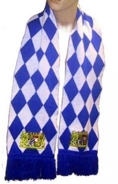 Echarpe Bayern Echarpe Fan 180 x 21 cm qualité épaisse, écusson brodé