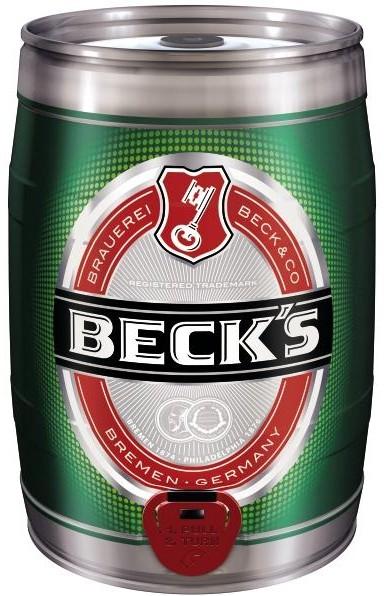 Becks Pils 5 litros estaño Partido 4,9% vol