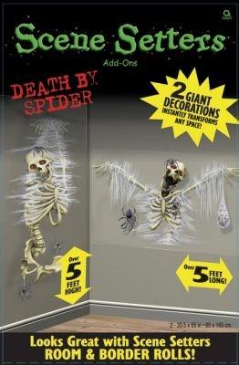 Escena Setter decoración de la ventana ciega - Muerte por la araña
