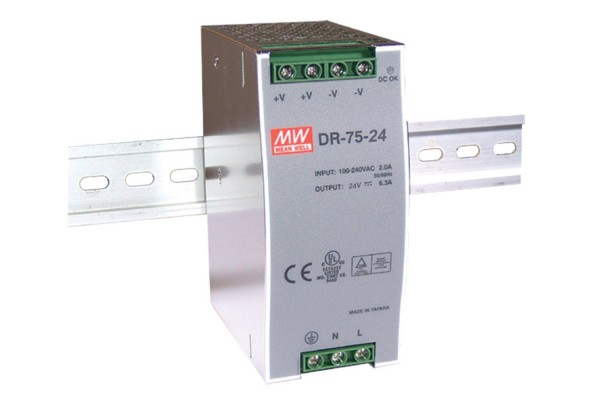 MEANWELL Fuente de alimentación conmutada de 24V 3.2A 75W HS