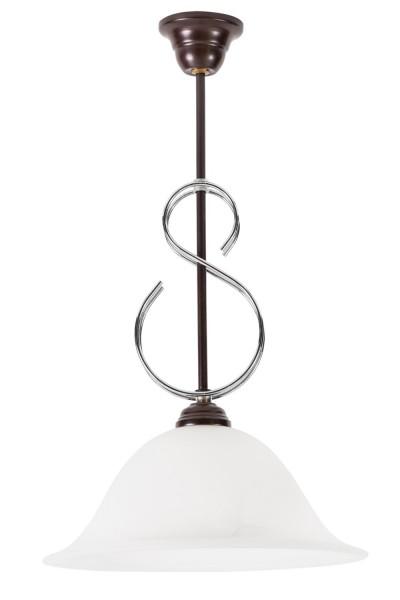LAMPEX luz colgante de metal / vidrio de 50 x 30 cm