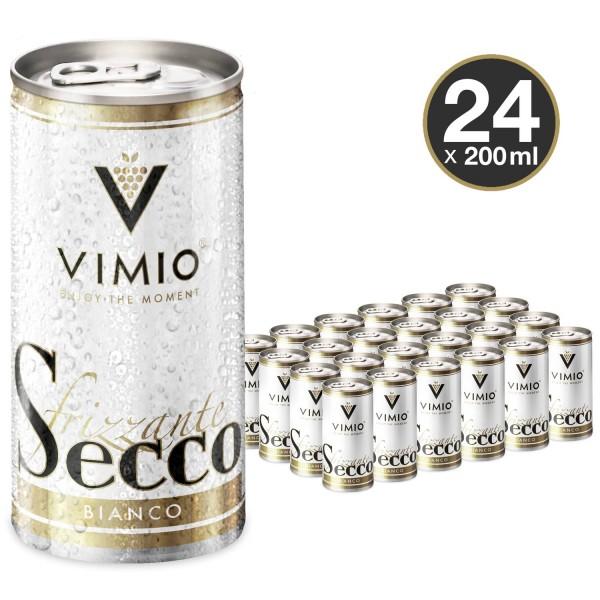 24 x Vimio Frizzante Secco bianco 10.5% vol 200 ml lata
