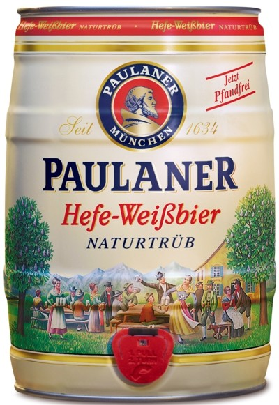 Paulaner Hefe-Weissbier Naturtrueb 5,5% vol Partido estaño 5 litros