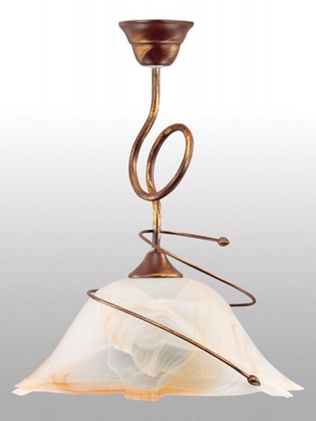 lámpara de techo de LAMPEX Sanki 1 de metal / vidrio de 43 x 36 cm