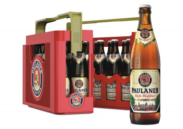 20 x Paulaner naturtrüb cerveza de trigo 0,5 L - 5,5% de alcohol en su caso original