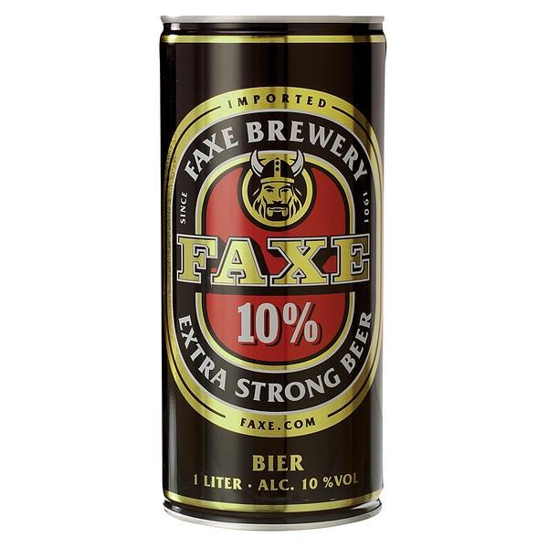 12 x Faxe stout extra fuerte de lata de Dinamarca 1 litro 10% vol.