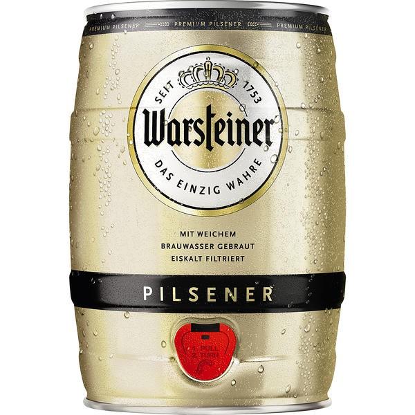 Box Warsteiner Pils 5 L Partido 4,8% vol.