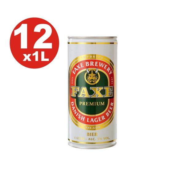 12 x Faxe Premium Danish Lager 5% vol 1 litro puede