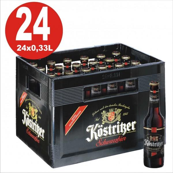 24 x Koestritzer Schwarzbier 0,33 Caja original 4.8% Vol. Alc